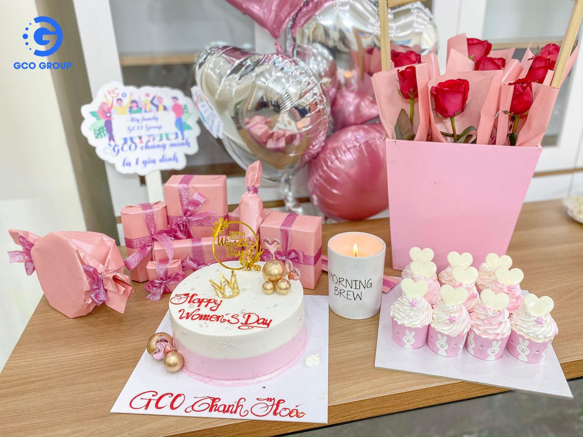 Concept hồng ngọt ngào của chi nhánh Thanh Hóa
